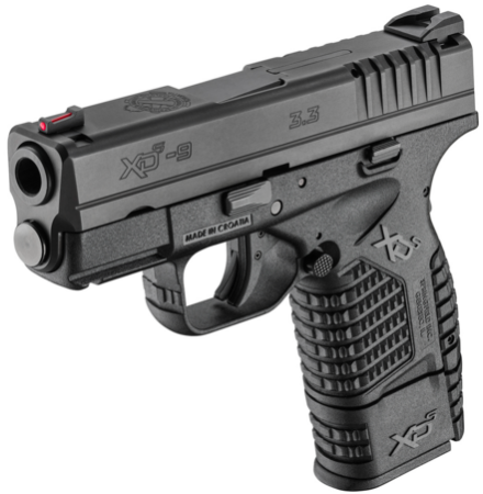 The Springfield XD-S 9mm with extended 8-round magazine.