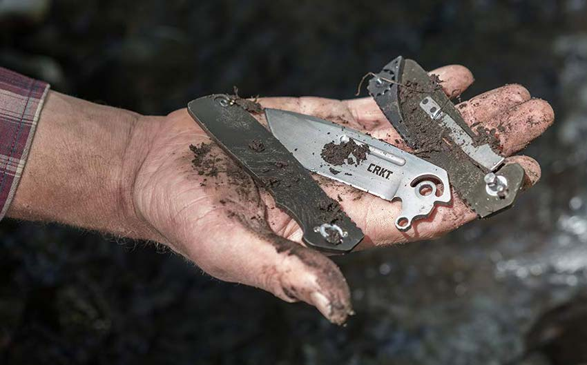 Homefront Knife broken down for easy clean-up.