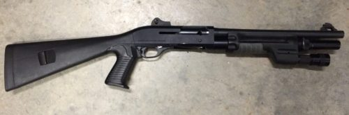 The author's Benelli M1 Super 90 duty shotgun. Nice but complicated.