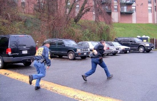 Foot pursuits are one of the most dangerous police activities (photo by U.S. Marshals).