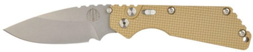 The Desert Tan handle option comes with DLC black or stonewashed blade option, as well as with or without slide-safety.