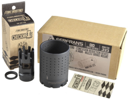 The Checkmate muzzle brake is the smallest S.I. offering.