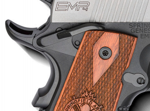 Ambidextrous manual safety levers increase versatility in shooting scenarios.