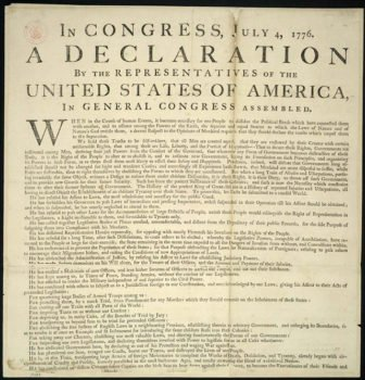 One of the original Declarations of Independence (photo by loc.gov).