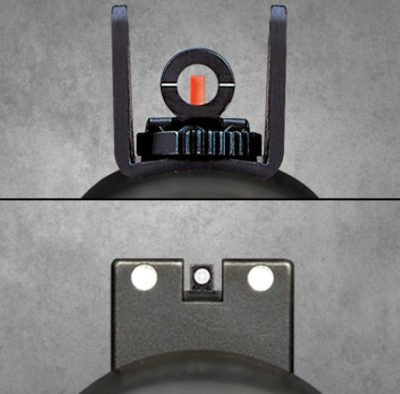 The Ghost Ring sights above are one option, while the night sights below are another.