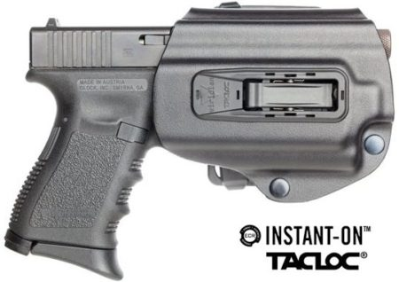 The Instant-On Tacloc holster for Viridian R5 lasers is just one option.