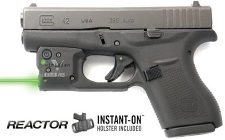 Viridian R5 on the Glock 42, .380 caliber pistol.
