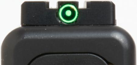 The Meprolight FT Bullseye combines reflex and iron sight designs.