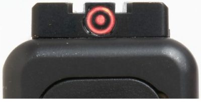 Meprolight FT Bullseye sights come in green and red shown).