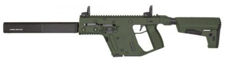 """The Vector II CBR in OD Green has a collapsible stock and enhanced 16"""" barrel shroud."""