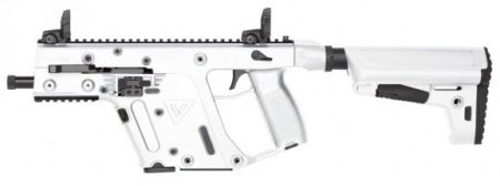 KRISS Vector SBR in white, is a nice cross-over from pistol to carbine.