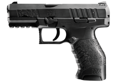 The Walther PPX was more blocky in appearance.