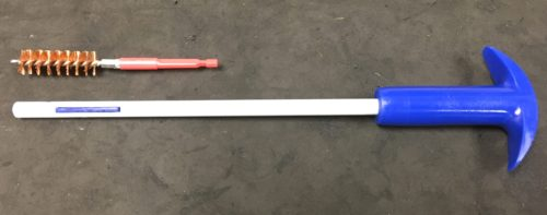 The T-handle Gungenics cleaning rod with unique locking bar.