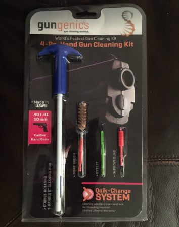The Gungenics 4-piece Handgun Cleaning Kit.