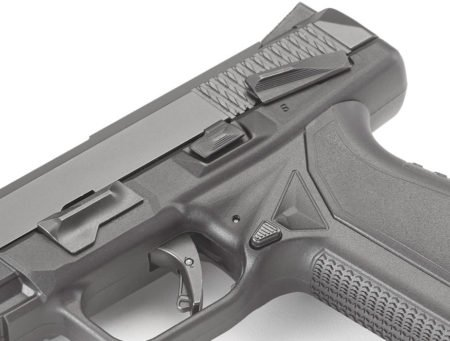 The RAP trigger safety bar is a great feature, but the slide lock lever could look better.