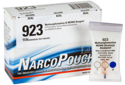 NarcoPouch is a very popular test kit brand owned by Safariland.