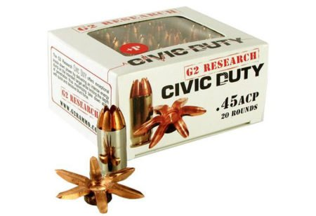 The new Civic Duty .45 ACP has impressive expansion.