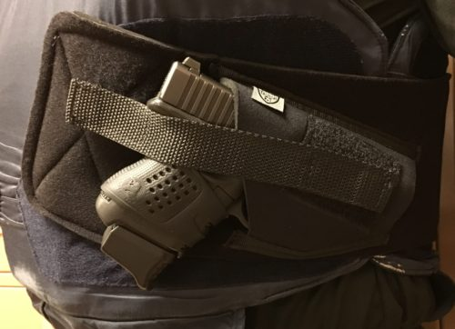 Telor Tactical Tagalong Ballistic Armor Holster has potential.