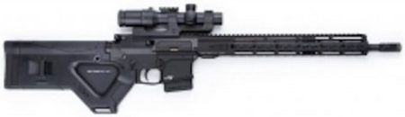 A HERA Arms CQR compliant buttstock is still attractive, and provides a modified pistol grip for the user.