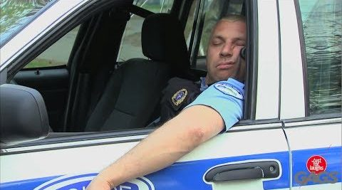 Sleeping on duty is a serious offense in most cases photo on YouTube).