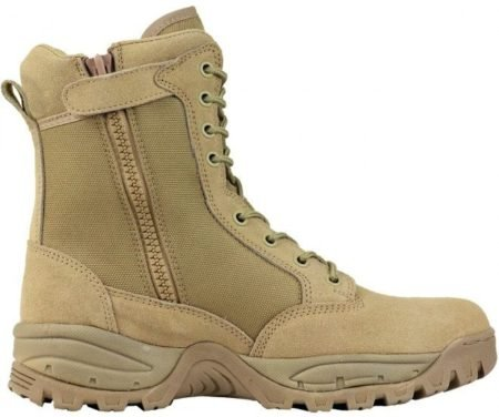 "Maelstrom TAC FORCE 8"" boots also come in Tan for snipers or brown uniforms."
