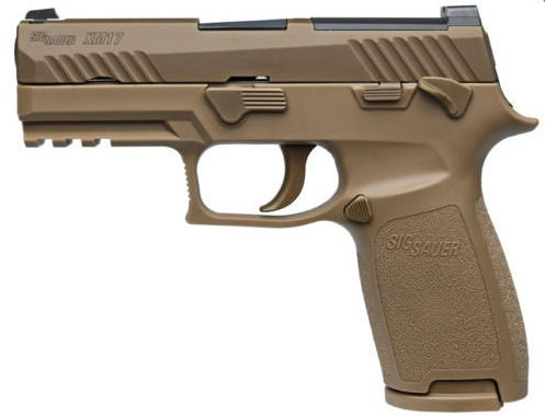 The Sig P320 Compact was slightly modified to meet Army MHS standards.