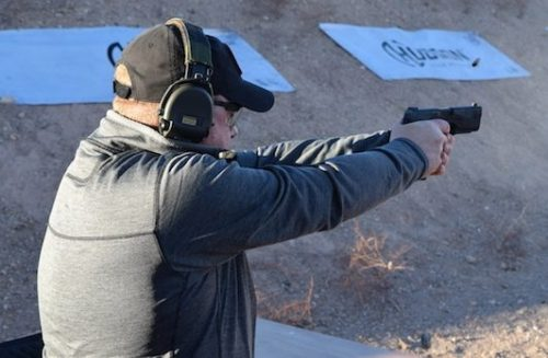 Shooting the H9 was very rewarding with reduced recoil, and an amazing trigger. Photo of Patrick from TFB.