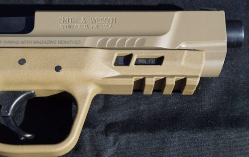 Forward slide serrations and a 3-position Picatinny rail compliment the 2.0.
