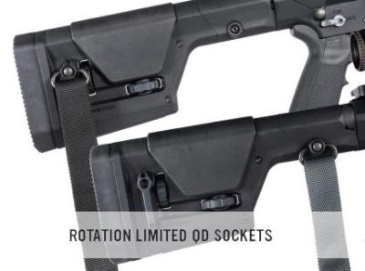 QD sling mounts offer versatile sling mounting options.