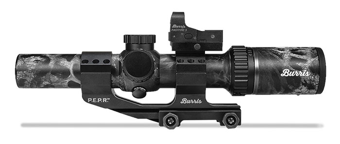 Burris 1-4x24 rifle scope with red dot
