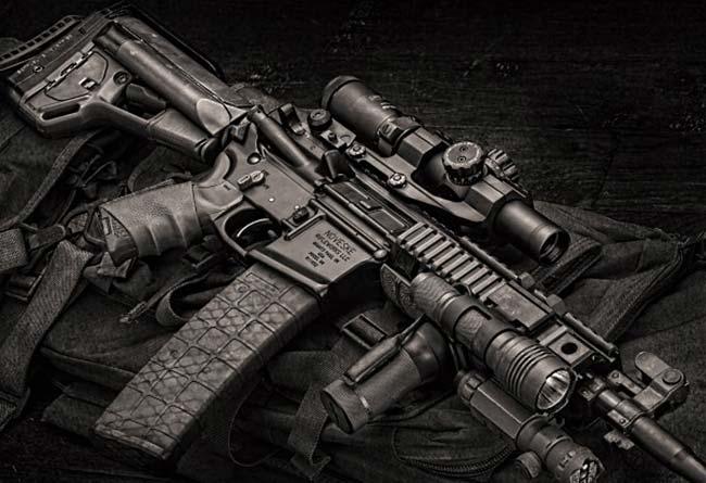Leatherwood Hi-Lux 1-4x24 on Noveske rifle