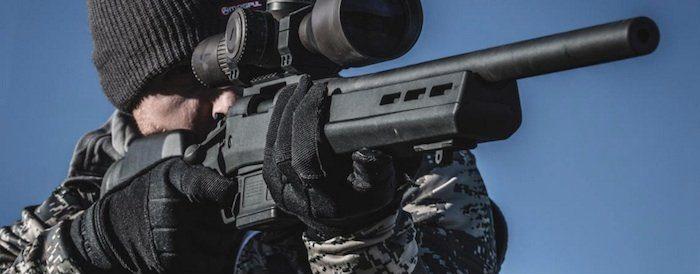 hunter shooting the Remington Model 700 Magpul rifle