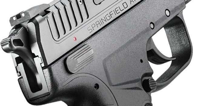detail shot of safety on Springfield Armory XD-E