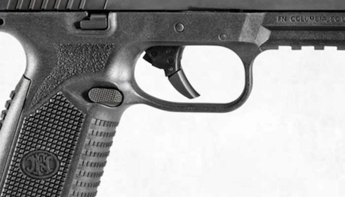 trigger detail on FN 509 pistol