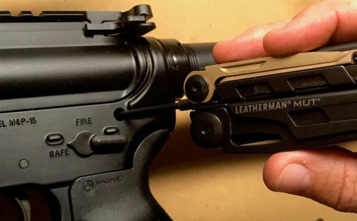 Takedown Pin on an AR15 Rifle
