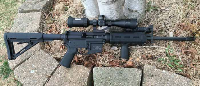 Smith & Wesson M&P15 Fitted with Low Power Scope for Varmint Hunting