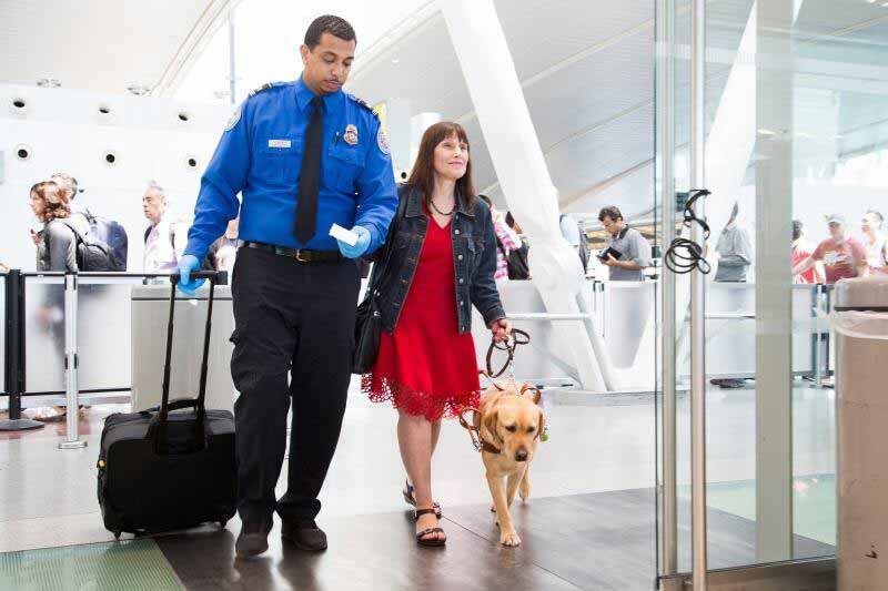 TSA Escort for Firearms Screening